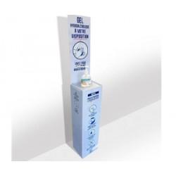 Présentoir gel covid 142 cm livré