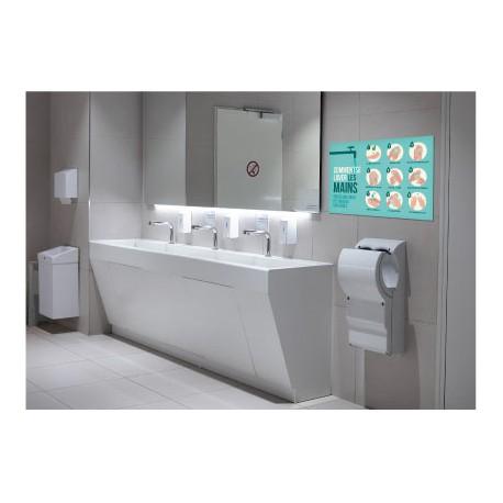 Panneaux pvc lavage des mains covid L 50 cm livré