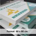 Lot de 10 panneaux akylux imprimés 60 x 80 cm livré