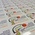 500 autocollants imprimés 12 x 8 cm livrés