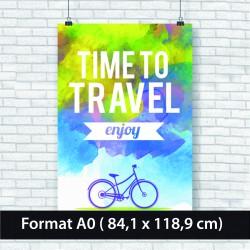 Affiche papier 135 gr A0 imprimée  (84.1 x 118.9 cm)
