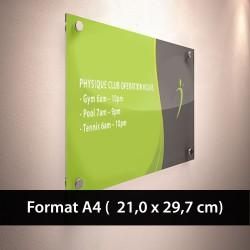 Plaque pro plexi A4 (21x 29.7 cm)
