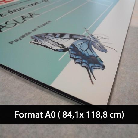 Plaque alu Dibond A0 imprimée  (84.1 x 118.9 cm)