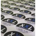 500 autocollants imprimés 4 x 8 cm livrés
