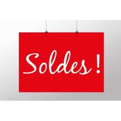 Affiche polyester SOLDES réutilisable