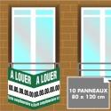 Lot de 10 panneaux akylux imprimés 120 x 80 cm livré