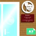 Plaque alu Dibond A3 imprimée  (42 x 29.7 cm) livrée