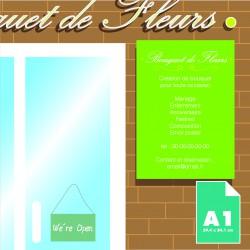 Plaque alu Dibond A1 imprimée  (84.1 x 59.4 cm)