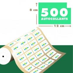 Lot d'étiquettes adhésives imprimées 12 x 8 cm