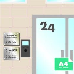 Plaque pro alu Dibond A4 (21x 29.7 cm)