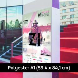Affiche polyester A1 imprimée  (59.4 x 84.1 cm)